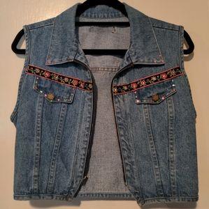 Vintage Denim Vest Jacket Made in the Shade